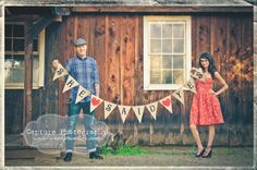 Cute retro engagement shoot
