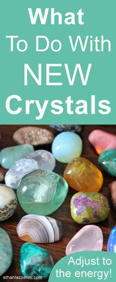 Beginners guide for what to do with new crystals. Cleansing, programming, blessing, meditation #crystals #crystalhealing