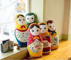 Kawaii matryoshka pattern cotton by Harvard5f on Etsy, $8.90