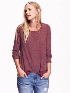 Old Navy - Womens Lightweight Sweater - marion berry