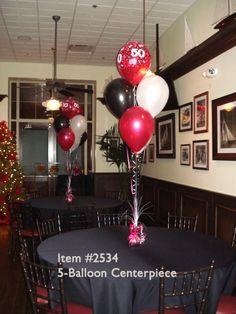 Balloon Centerpieces # 2534 – 5-Piece Latex Balloon Centerpiece