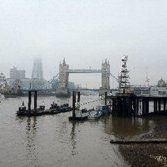 Misty London Bridge