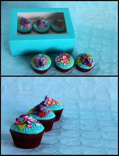 Spring in a little box cupcakes