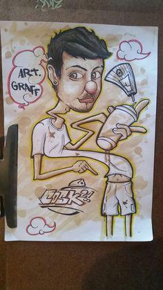 #cosksito #sketch pintando con cafe :3 #ArtGraff  #Graffiti desvariacion :p