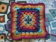 Ravelry: Project Gallery for Granny Square 90 pattern by Mary Jane Protus
