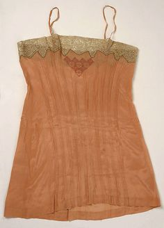 1920s, France - Underwear - Silk, cotton