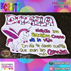 #Pancarta #Banner #Unicornio #Unicorn #Gift #Regalo #Cartel #Pancartas