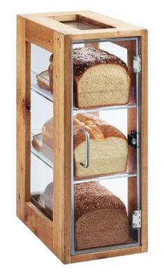 Cool Kitchen Gadgets, Kitchen Items, Cool Kitchens, Kitchen Decor, Kitchen Design, Bakery Display Case, Bread Display, Wood Display, Display Cases
