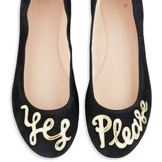 Kate Spade New York Willow Suede Ballet Flats ($228) ❤ liked on Polyvore featuring shoes, flats, black, kate spade shoes, ballet flats, black ballet pumps, skimmer flats y ballet shoes