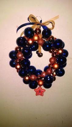 Syracuse University coat hanger ornament wreath