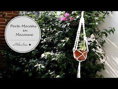 DIY Porta Macetas macrame / DIY Flower Pot Support - MikoSaa - YouTube