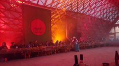 Total War: Warhammer launch event. Gridshell building banquet