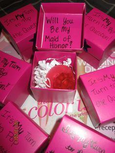 Be My Bridesmaid - Candy Ring Idea