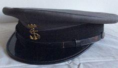 Gorra de plato gris, de Policía Naval de Infantería de Marina 1960/1975