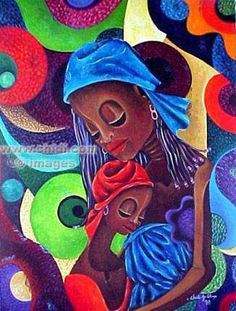 Mother and Daughter, Art Print, black art giclee, African Canadian Art ...