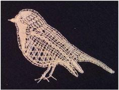 Bobbin lace pattern - bird