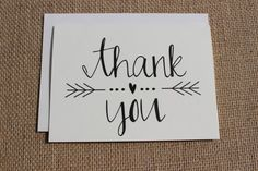 Another example of a thank you card, where yarn could be used for the lines, or no yarn at all so there is space to write!