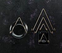 Tripar Triangular Plate Wire Hangers & Lot of 7 Tripar Wire Plate Hangers - 3 Sizes - 32-1302 32-1303 32 ...