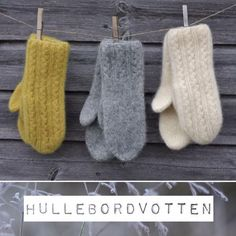 Hullebordvotten - Lilly is Love Knitted Mittens Pattern, Knit Mittens, Knitted Gloves, Knitting Socks, Hand Knitting, Knitting Designs, Knitting Projects, Knitting Patterns, Christmas Bazaar Ideas