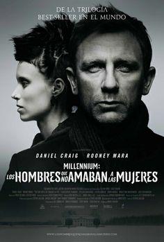 """Los hombres que no amaban a las mujeres (2011). EEUU. Dir: David Fincher.  SIGNATURA: DVD-IN-318. Baseada na primeira parte da triloxía """"Millenium"""" creada por Stieg Larsson. http://kmelot.biblioteca.udc.es/record=b1412811~S1*gag"""