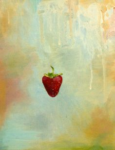 Oil Painting Strawberry by JuliaDickensArt on Etsy, $300.00