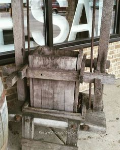 Do you know what this is? Rustic Vintage Grape Press! Unique! Add flowers! Or awesome item for a wine enthusiast! #restylechicago #reluxvintage #wine #vintage https://www.instagram.com/p/BP3JgGwBVnD/