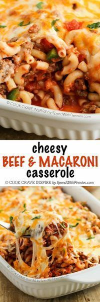 This Cheesy Beef & Macaroni Casserole is an easy to put together and it boasts big flavor! We've made this recipe countless times and everyone in my family raves about it! Beef Macaroni, Macaroni Casserole, Casserole Dishes, Casserole Recipes, Meat Recipes, Cooking Recipes, Beef Casserole, Vegemite Recipes, Gastronomia