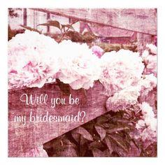 Romantic pink peonies bridesmaid request