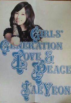 3rd Japan Album 'Love&Peace' Folded Poster