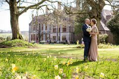 In front of the 200 year old spanish chestnut trees with the hour in background. @Huntsham Court #bestweddinglocation -www.huntshamcourt.co.uk