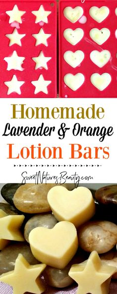 These DIY Lotion Bars have lavender and orange essential oils for a calming yet citrus aroma. Great for using as a homemade lotion for natural skincare and natural beauty.