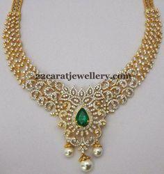 Jewellery Designs: 6 Lakhs Diamond Sets Gallery