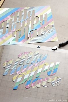 DIY Washi Tape Stickers  / by http://www.triedandtrueblog.com/
