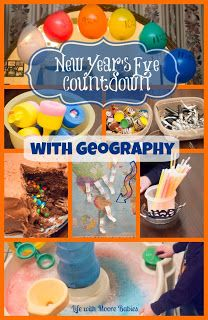 Life with Moore Babies: New Year's Festivities and a Geography Countdown