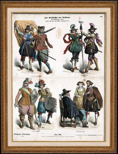 German Costume - German Fashion - Military Uniform - Germany - German Soldiers (17th Century - XVIIth Century)