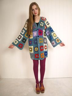 Recycled granny square jacket by http://www.kitschbitsch.com.au/