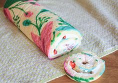 Impress your friends and family with a beautiful patterned roll cake. No special tools or skills required — if you can trace, you can make this cake!