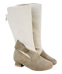 Look at this White & Brown Emmy Boot & Hair Clip - Kids on #zulily today!