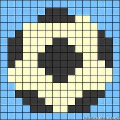 Football perler bead pattern