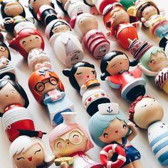Momiji Dolls! Each with a tiny message inside for your own handwritten message, dream or wish. #momiji #momijidolls Instagram by @mutlulukoyunu