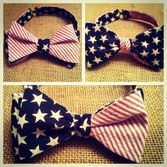 I love this 'Merica bow tie by Sweet Southern Spud! Check out www.sweetsouthernspud.com