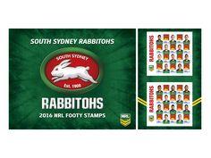 Collect the 2016 South Sydney Rabbitohs Stamp Sheet featuring your favourite players: http://auspo.st/1UzV125  #GoRabbitohs   #NRL   #Philatelic   #SouthSydneyRabbitohs