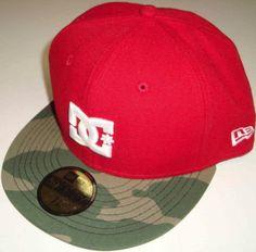 a272800b35a New Era DC Shoes Dynasty Flatbrim Fitted Hat Cap (7 5 8