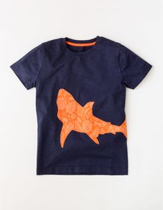 f72a787324f Patchwork Animal T-shirt Boden Boy Applique Shirts
