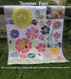 "Sew Little Fabric by Paula Storm: ""Summer Rain' my Modern Dresden Plate Quilt"