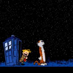 Doctor Calvin and companion Hobbes.