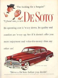 1950 De Soto ad