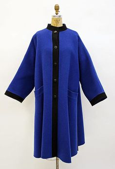 Madame Grès (Alix Barton) | Coat | French | The Met late 1960s–mid-1980s Culture:French Medium:wool Credit Line:Gift of Chessy Rayner, 1997 Accession Number:1997.116.48