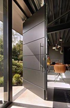 De allerbeste b&b van Nederland - Eingangstür - Door Design Modern Entrance Door, Main Entrance Door Design, Modern Exterior Doors, Door Gate Design, Modern Front Door, Door Design Interior, Front Door Entrance, House Front Door, Front Door Design