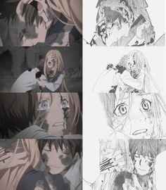 Noragami manga and anime. God I just love it when an anime stays faithful to the manga like this